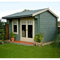 Shire Marlborough 10x12 Apex Tongue and groove Wooden Cabin - Assembly service included