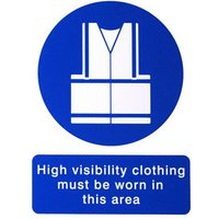 High visibility vest Self-adhesive labels (H)200mm (W)150mm