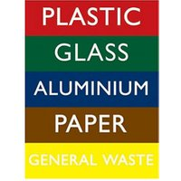 Recycling bin Self-adhesive labels (H)200mm (W)150mm