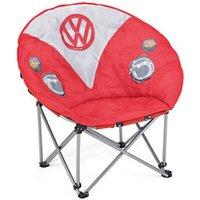Volkswagen Red Round VW Camper Van print Chair.