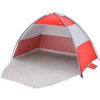 Multicolour Striped Quick pitch Beach shelter.