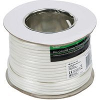 Tristar White 8 core Telephone cable 50m.