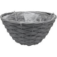 Smart Garden Faux rattan Plastic Hanging basket  35cm