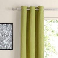 Zen Lime Plain Unlined Eyelet Curtains (W)117cm (L)137cm  Pair