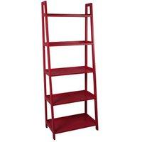 Form Radius Red 5 Shelf Bookcase (H)1735mm (W)400mm.