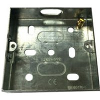 B&Q Metal 16mm Single Pattress box