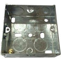 B&Q Metal 25mm Single Pattress box.