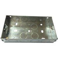 B&Q Metal 25mm Double Pattress box.