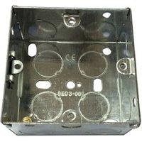 B&Q Metal 35mm Single Pattress box.