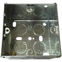B&Q Metal 47mm Single Pattress box.