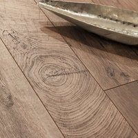 Lydney Natural Gloss Dark oak effect Laminate Flooring Sample