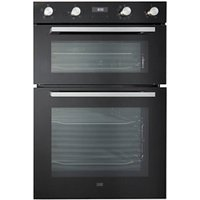Cooke and Lewis CLELDO105 Black Built-in Electric Double Oven