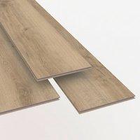 Ledbury Natural Gloss Oak effect Laminate Flooring Sample