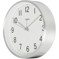 Jones California Contemporary Silver effect Quartz Mantle clock.