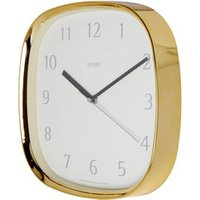 Jones Vogue Contemporary Brass effect Quartz Clock.