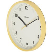 Jones Dime Contemporary Yellow Quartz Clock.