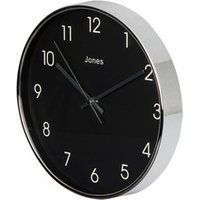 Jones Studio Contemporary Chrome effect Quartz Clock.