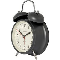 Jones Twin bell Grey Quartz Alarm clock.