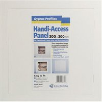 Gyproc Profilex White Plastic Access panel (H)300mm (W)300mm.