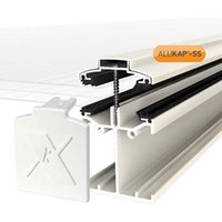 Alukap SS White Aluminium Low profile Glazing bar  (L)4.8m (W)60mm (T)90mm