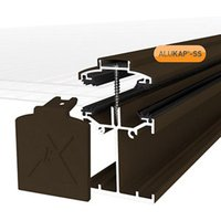 Alukap SS Brown Aluminium Low profile Glazing bar  (L)4.8m (W)60mm (T)90mm