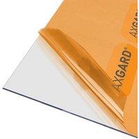 AXGARD Clear Polycarbonate Flat Glazing sheet  (L)1.02m (W)0.62m (T)2mm