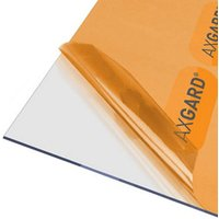 AXGARD Clear Polycarbonate Flat Glazing sheet  (L)1.24m (W)0.62m (T)3mm