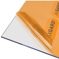 AXGARD Clear Polycarbonate Flat Glazing sheet  (L)2.5m (W)0.62m (T)4mm