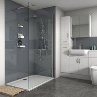 Save on this Splashwall Gloss Flint 2 sided Shower Panel kit (L)1200mm (W)1200mm (T)4mm