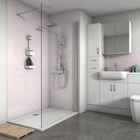 Save on this Splashwall Gloss Pale pink 2 sided Shower Panel kit (L)1200mm (W)1200mm (T)4mm