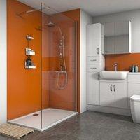 Save on this Splashwall Matt Pumpkin 2 sided Shower Panel kit (L)1200mm (W)1200mm (T)4mm