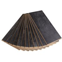 Harmonia Black Gloss Slate effect Laminate Flooring Sample