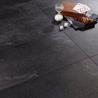 Colours Harmonia Black Slate effect Laminate flooring  2.05m² Pack