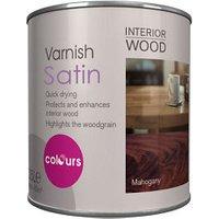 Colours Mahogany Satin Wood varnish  0.25L