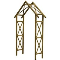 Blooma Cottage Apex top Softwood Arch - Assembly service included.