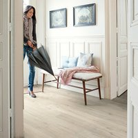 Quick-step Aquanto Light grey Oak effect Laminate flooring  1.84m² Pack