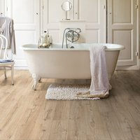 Quick-step Aquanto Classic Beige Oak effect Laminate Flooring  1.84m² Pack