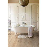 Aquanto Beige Oak effect Laminate Laminate flooring