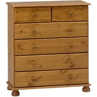 Malmo Stained Pine 6 Drawer Chest (H)901mm (W)823mm (D)383mm