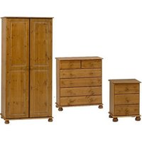Malmo Stained 3 piece Bedroom furniture set.