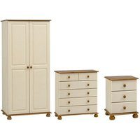 Oslo Cream 3 piece Bedroom furniture set.