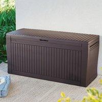 'Keter Comfy Wood Effect Plastic Garden Storage Box