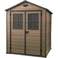 Keter Scala 6x8 Apex Tongue and groove Plastic Shed