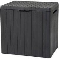 'Keter City Box Wood Effect Flat Garden Storage Box