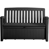 'Keter Patio Wood Effect Garden Storage Bench Box - Partial Assembly Required
