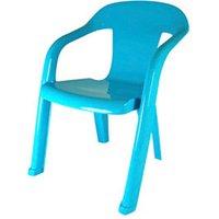 Baghera Blue Plastic Kids Chair