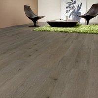 Nailsea Grey Oak effect Laminate flooring  1.49m² Pack