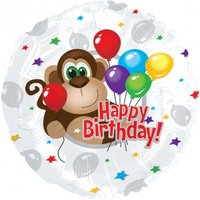 Birthday Monkey Balloon - Flowers Gifts