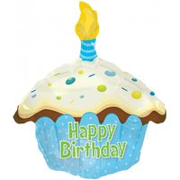 Blue Birthday Cake Balloon - Birthday Gifts