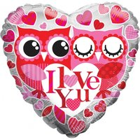 I Love You Owls Balloon - Owls Gifts